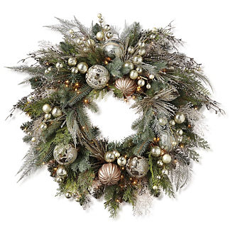 Mixed Metals Pre-Decorated Wreath