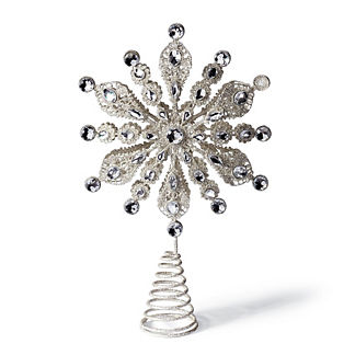 Crystal Snowflake Tree Topper