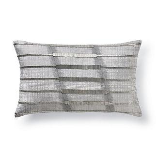 Piper Silver Beaded Lumbar Pillow