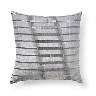 Piper Silver Beaded Decorative Pillow