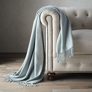 Silk Fleece Throw by Aviva Stanoff