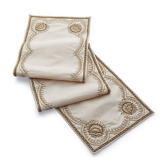 Tea Garden Golden Table Runner