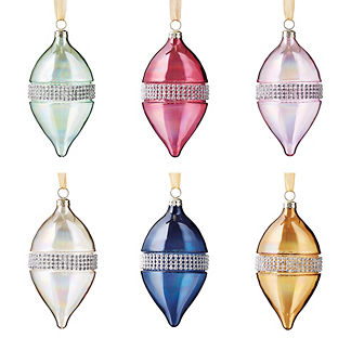 Jewel Tone Ornaments, Set of 24