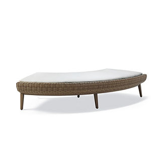 Sotto Curved Ottoman with Cushion, Special Order