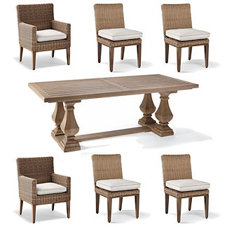 Somerset Teak 7-pc. Dining Set
