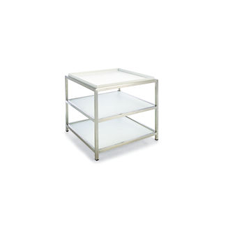 Metropolitan Side Table in White Finish
