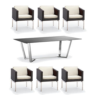 Metropolitan 7-pc. Dining Set in Panther Finish