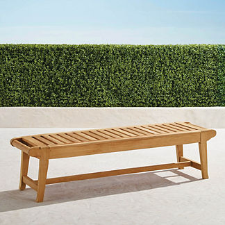 Cassara Backless Bench in Natural Finish