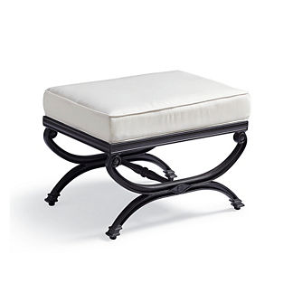 Carlisle X-Stool with Cushion in Onyx Finish, Special Order