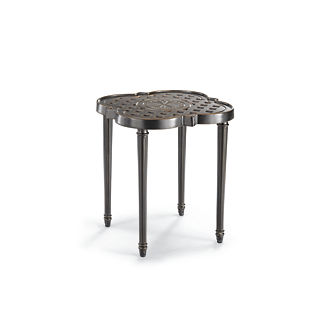 Quatrefoil Side Table in Midnight Gold
