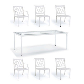 Grayson 7-pc. Rectangular Dining Set in White Finish