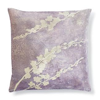 Violet Blossom Decorative Pillow