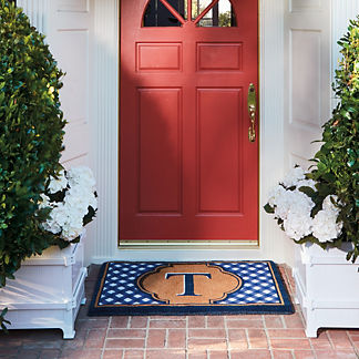 Summer Gingham Entry Mat