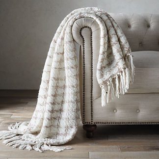 Fringe Houndstooth Throw