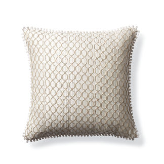 Lace Overlay Outdoor Pillow