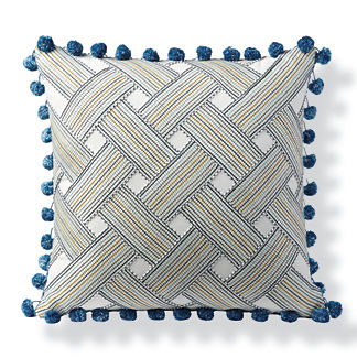 Basketweave Stripe Outdoor Pillow