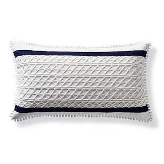Channeled Netting Outdoor Lumbar Pillow