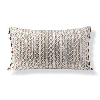 Ribbon Lace Outdoor Lumbar Pillow
