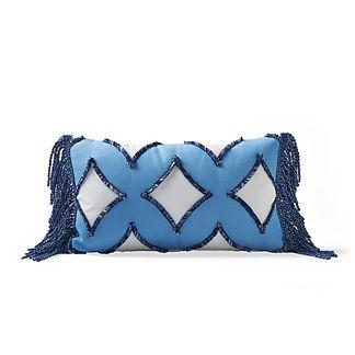 Diamond Fringe Outdoor Lumbar Pillow