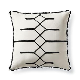 Pulse Black Outdoor Pillow