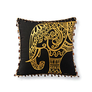 Metallic Elephant Outdoor Pillow
