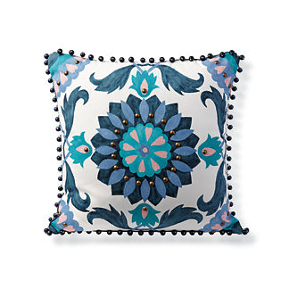Handpainted Suzani Outdoor Pillow