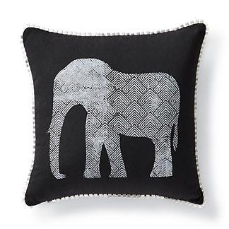 Geometric Elephant Outdoor Pillow