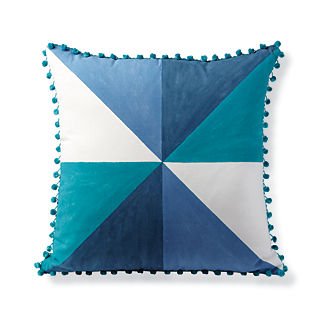 Handpainted Prism Blue Outdoor Pillow