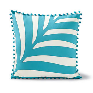 Etched Palm Aruba Outdoor Pillow