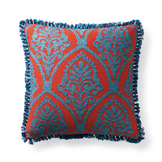 Timeless Ikat Sangria Outdoor Pillow