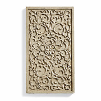 Scroll Applique Wall Plaque