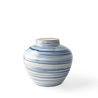 Blue Swirl Lidded Pot