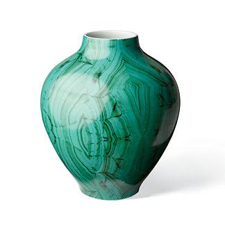Malachite Round Vase