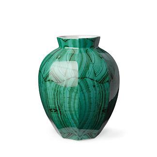 Malachite Faceted Vase