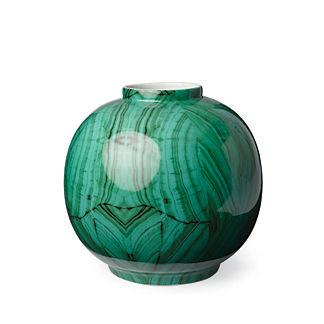Malachite Bulb Vase