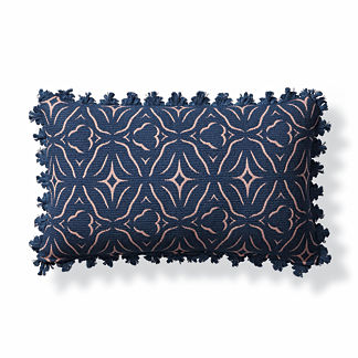 Chiseled Fret Petal Outdoor Lumbar Pillow