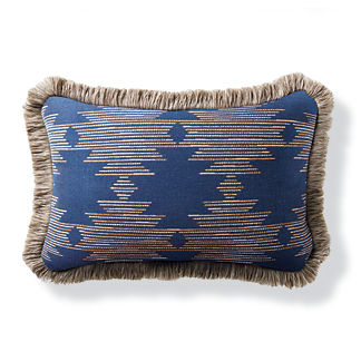 Marana Diamond Indigo Outdoor Lumbar Pillow