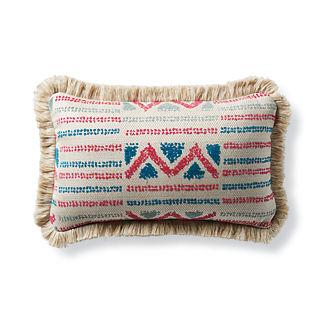 Porto Novo Fuchsia Outdoor Lumbar Pillow