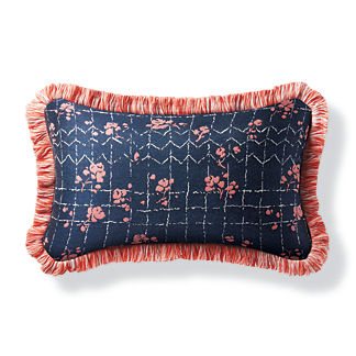 Vara Trellis Petal Outdoor Lumbar Pillow