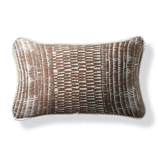 Yoruba Shimmer Bronze Outdoor Lumbar Pillow