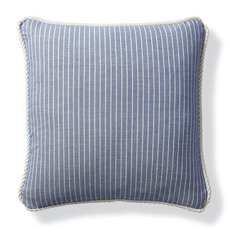 Cara Stripe Cobalt Outdoor Pillow