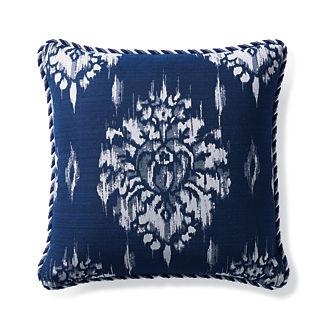 Hillcrest Ikat Indigo Outdoor Pillow