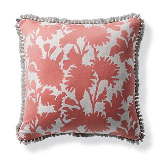 Stencil Floral Petal Outdoor Pillow