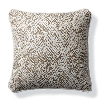 Techno Skin Champagne Outdoor Pillow