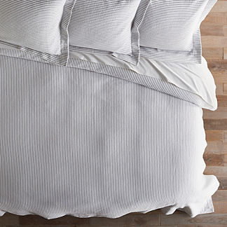 Ticking Stripe Matelasse Coverlet