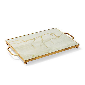 New Orleans Gold Leaf Ottoman Tray
