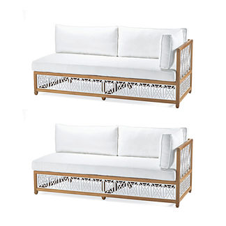 Catawba 2-pc. Right-Facing Sofa Set in White Finish