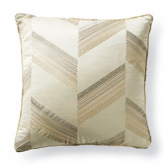 Plated Metallic Decorative Pillow
