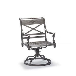Carlisle Swivel Dining Arm Chair in Slate Finish