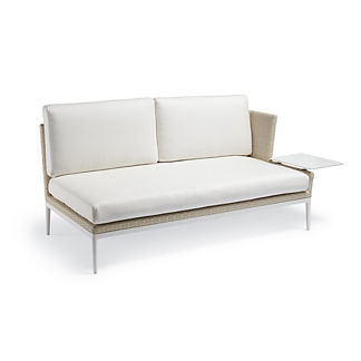 Palazzo Shell Right-facing Sofa with Table by Porta Forma, Special Order